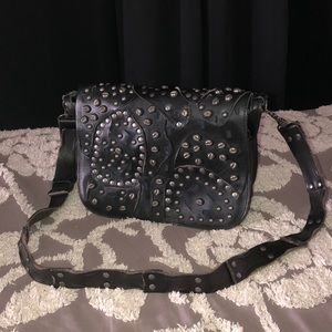 Patricia Nash Rosa crossbody bag black studded